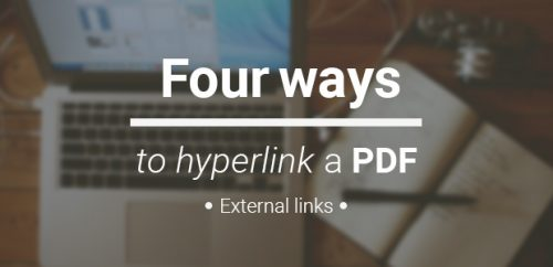 how to hyperlink PDF