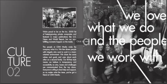 CMD media recruitment brochure