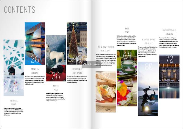Luxury travel magazine