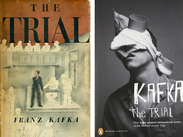 The trial Kafka book covers