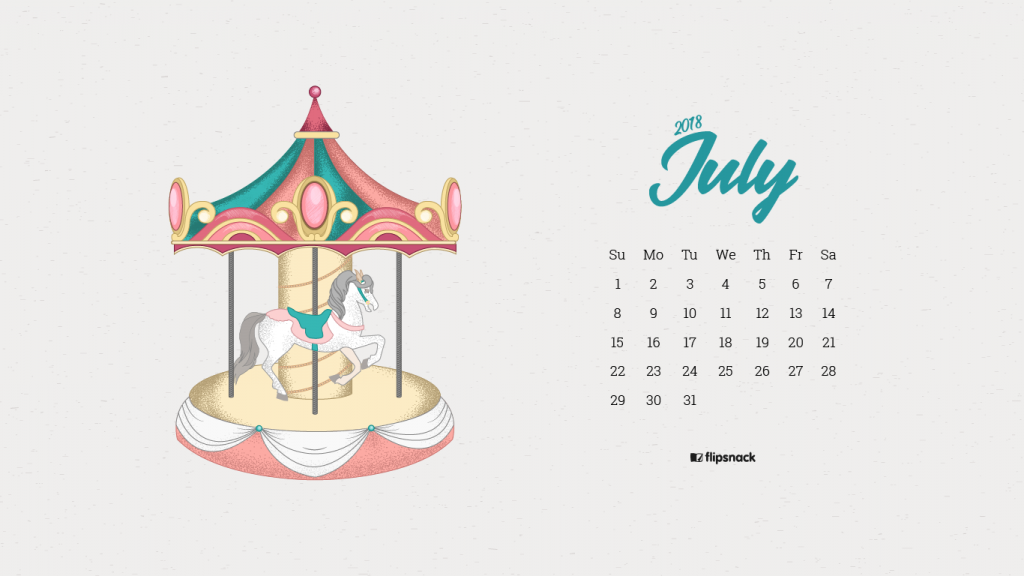 july 2018 wallpaper calendar carousel