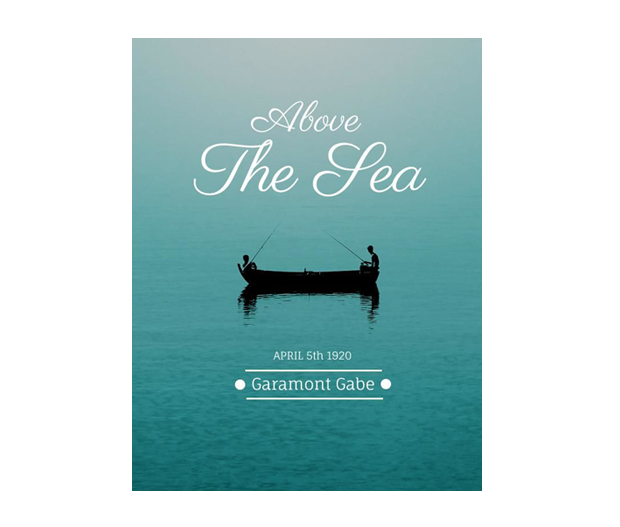 above the sea book cover design