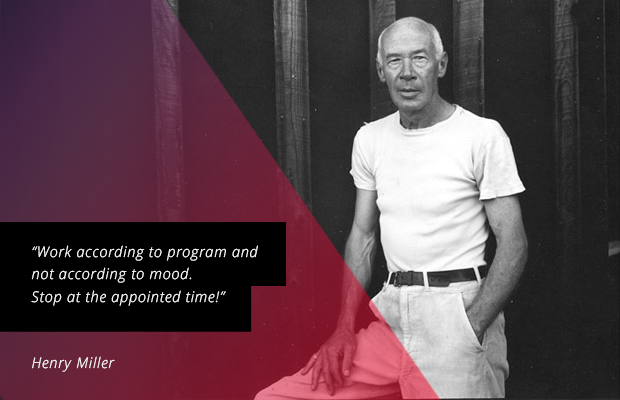 writing tips from henry miller