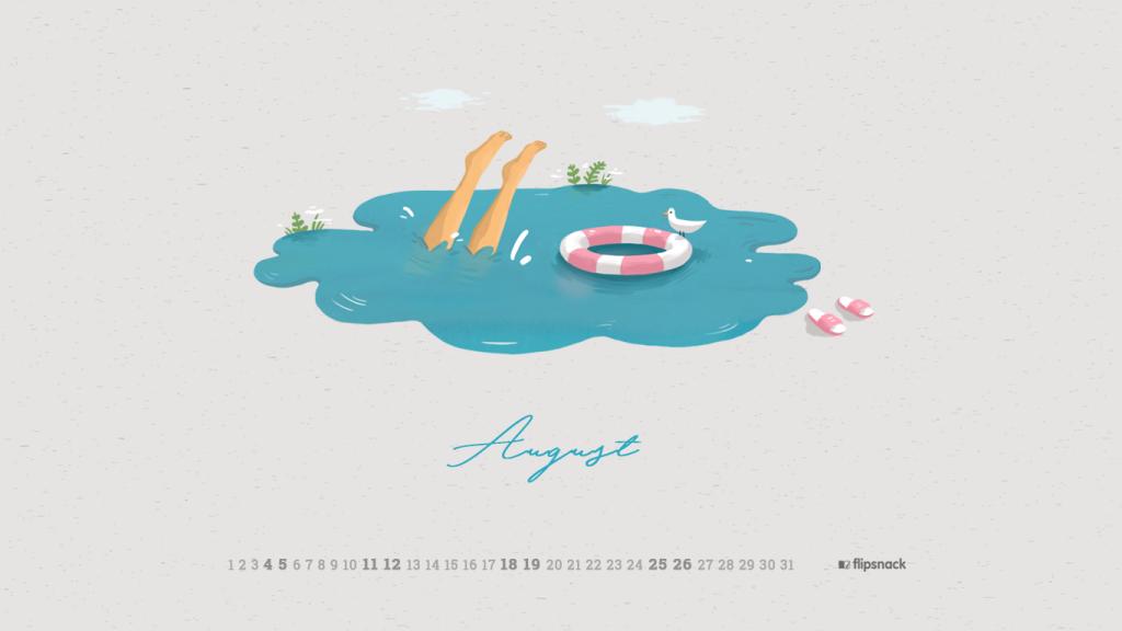 August 2018 calendar 1