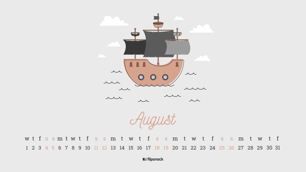 August 2018 calendar 2
