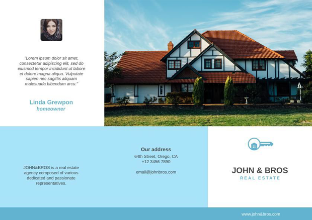 how to design a trifold brochure for real estate