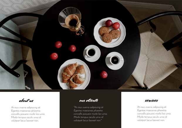 how to design a trifold brochure for coffee shop