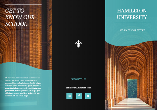 how to design a trifold brochure for university