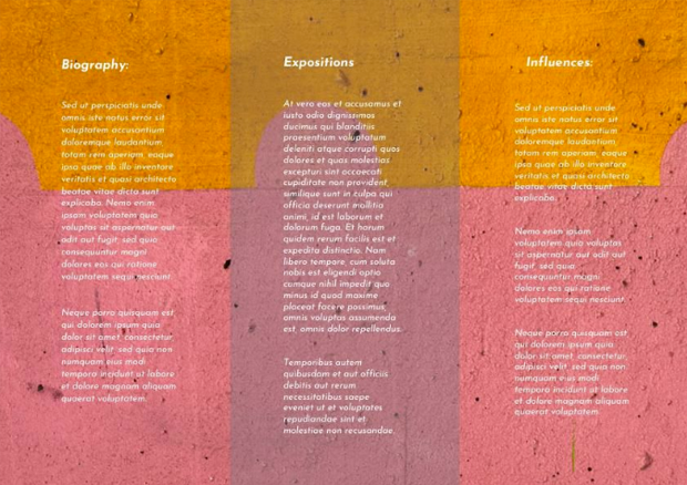 how to design a trifold brochure for art exhibition