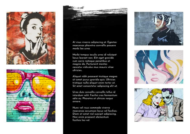 trifold brochure for art exhibition