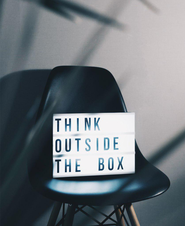 think outside of the box trifold brochure