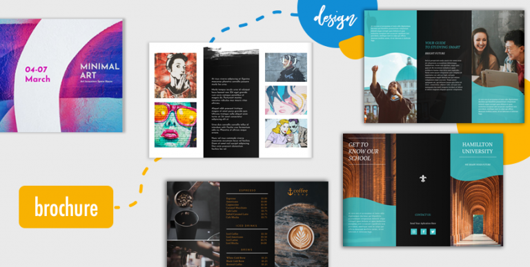 how to design trifold brochure cover