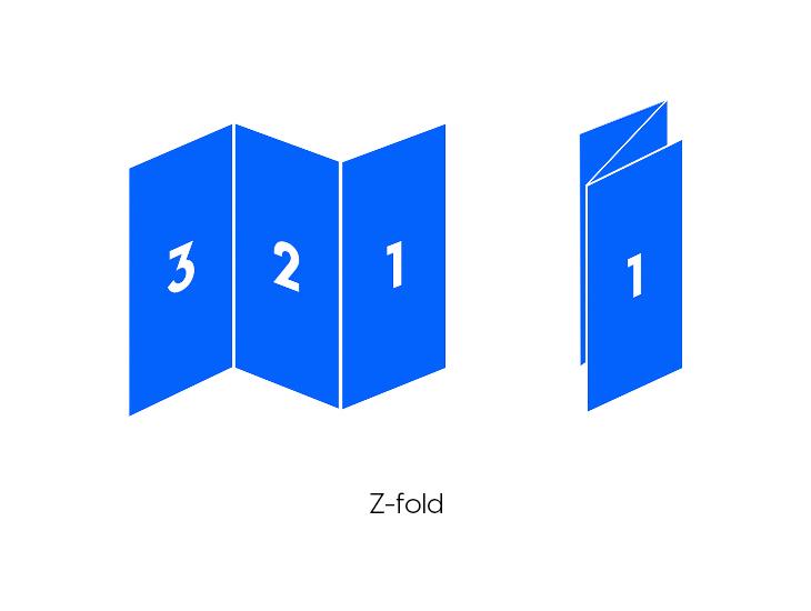 Z-fold brochure folding