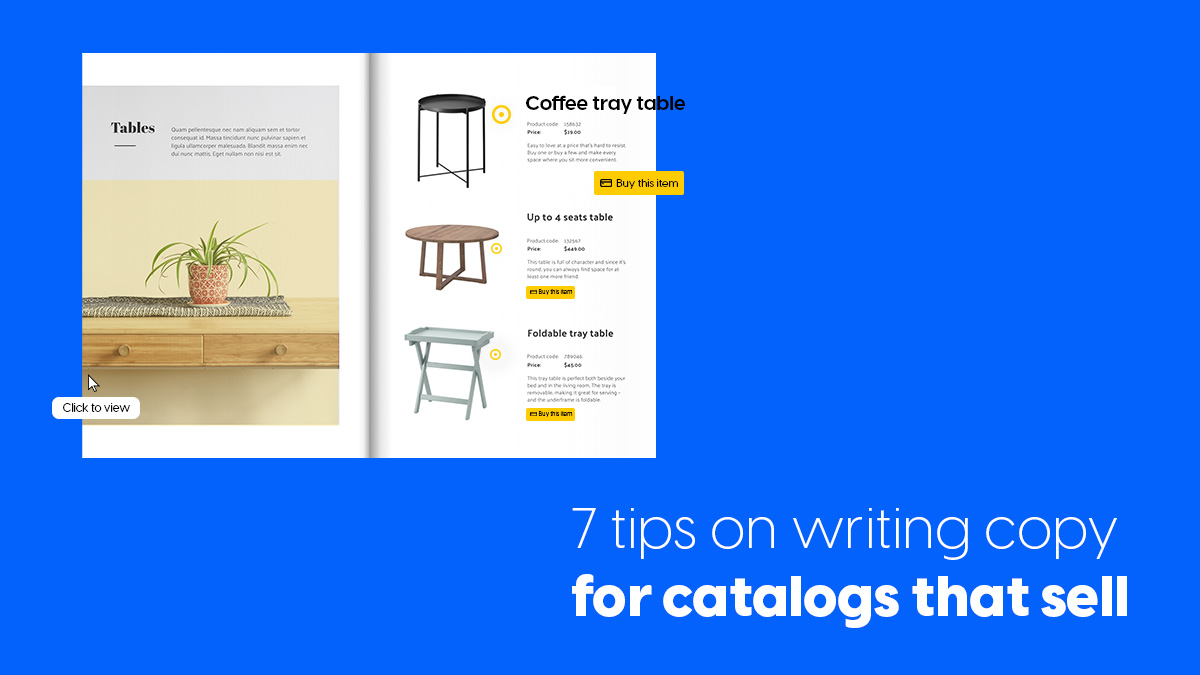 7 tips on writing copy for catalogs that sell cover