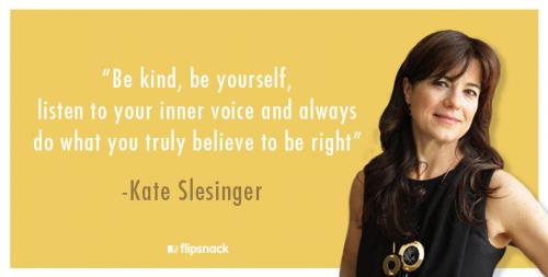 Kate Slesinger publishing director conde nast interview