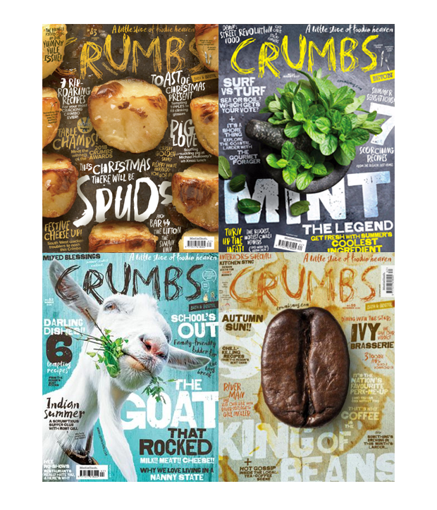 Food magazine cover design examples
