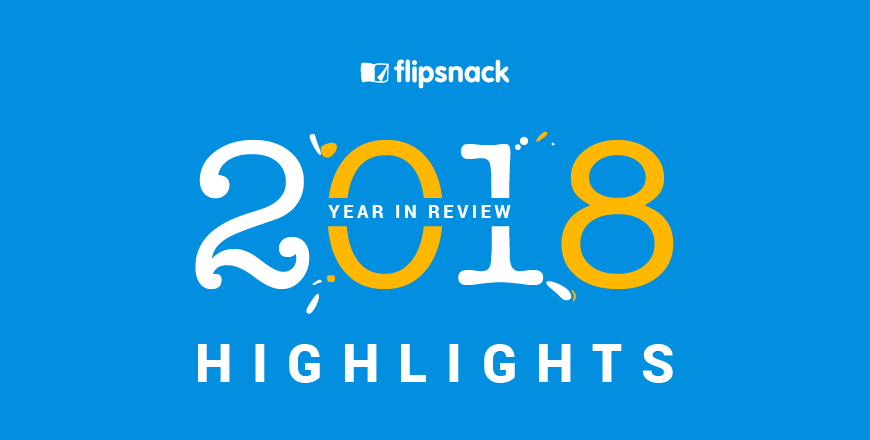 2018 highlights Flipsnack