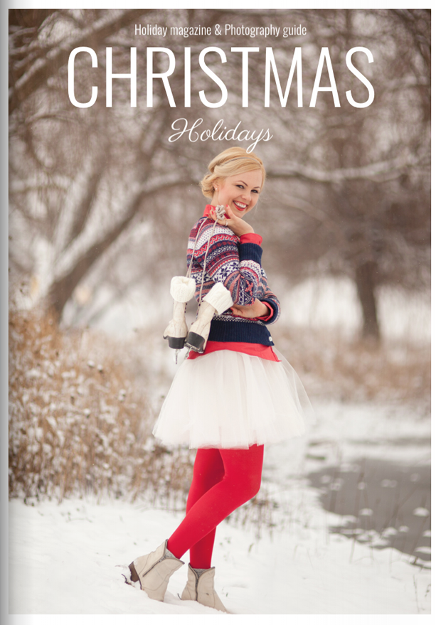 Winter Magazine Cover Template