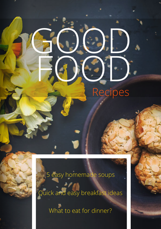 Cookbook Magazine Cover Template