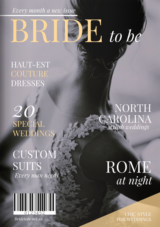 Stunning Wedding Magazine Cover Template