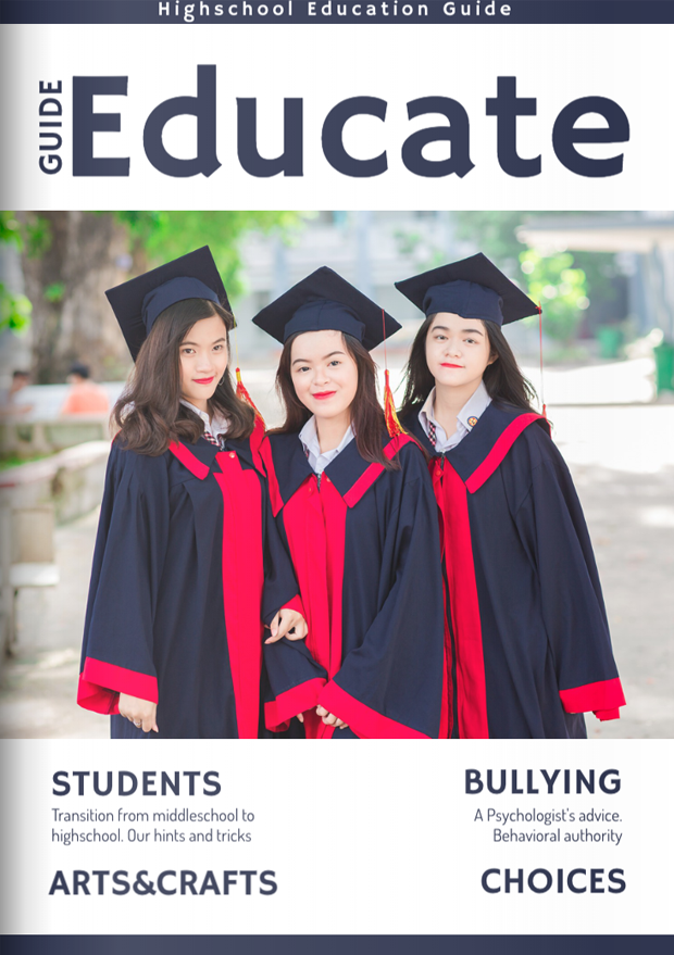 School & College Magazine Cover Template