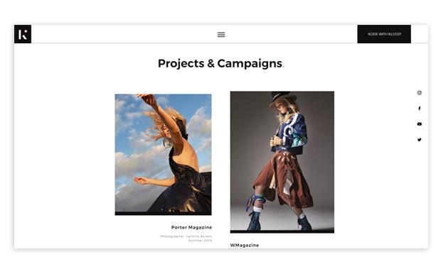modeling portfolio example Karlie Kloss