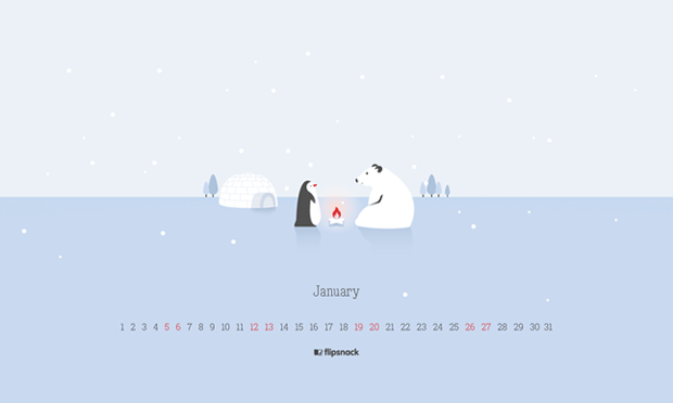 2019 January wallpaper calendar