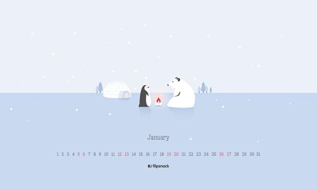 2019 January wallpaper calendar