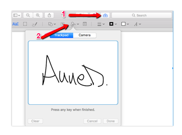 how to sign PDF documents on macbook