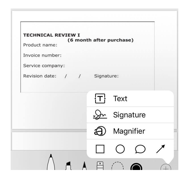 PDF signature on ipad and iphone