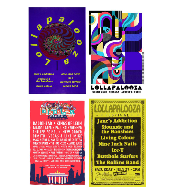 The art of the music festival poster Lollapalooza