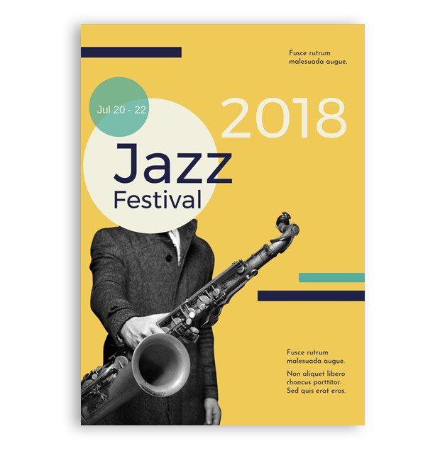 jazz music festival template poster