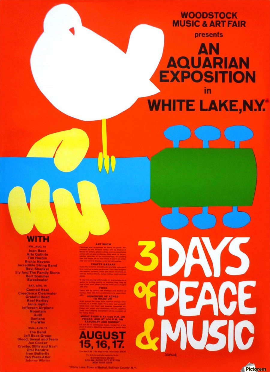 The art of the poster original Woodstock