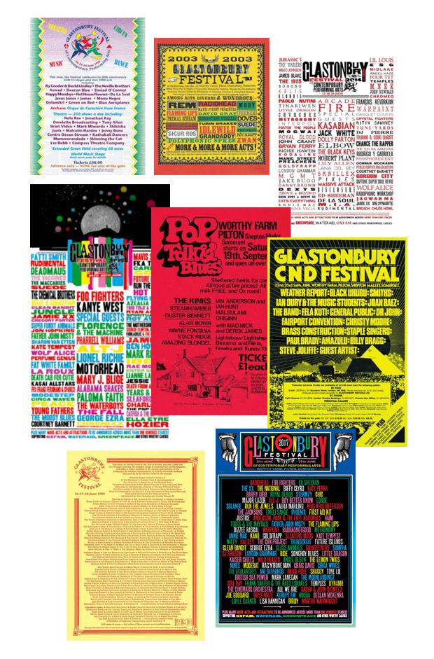 the art of the music festival poster Glastonbury