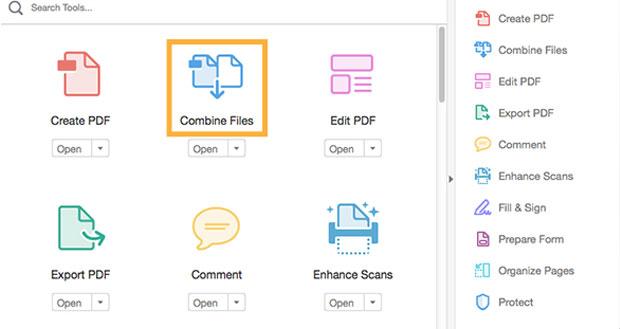 merge PDF adobe acrobat