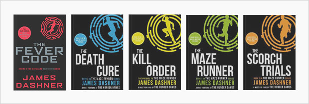 the maze runner book cover series design