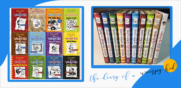 the diary of a wimpy kid book cover series design