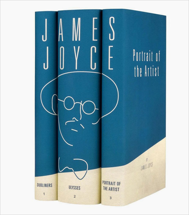 book collection joyce book cover series design