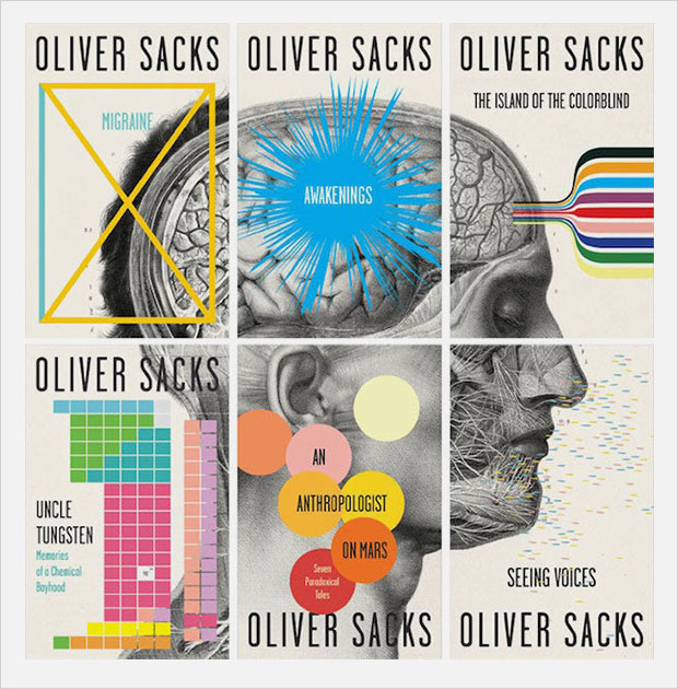 oliver sacks book collection book cover series design