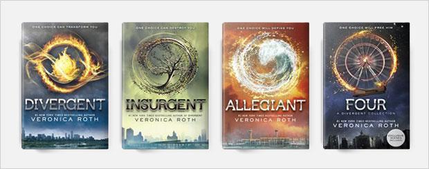 divergent book cover series design