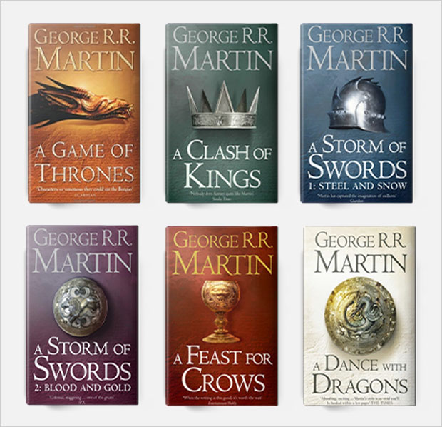 a song of ice and fire book cover series design