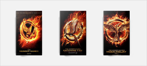 the hunger games book cover series design