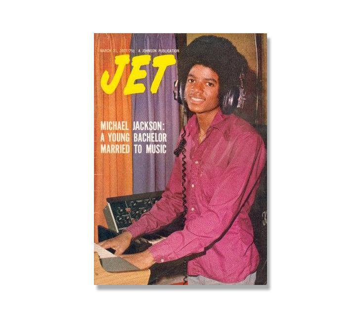 Michael Jackson through magazine covers Jet Magazine