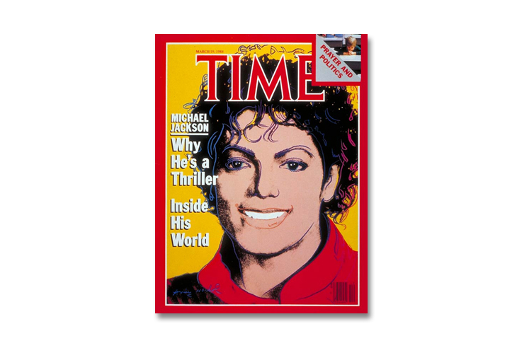 Michael Jackson Andy Warhol time magazine cover