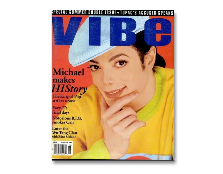 Michael Jackson through magazine covers Vibe magazine