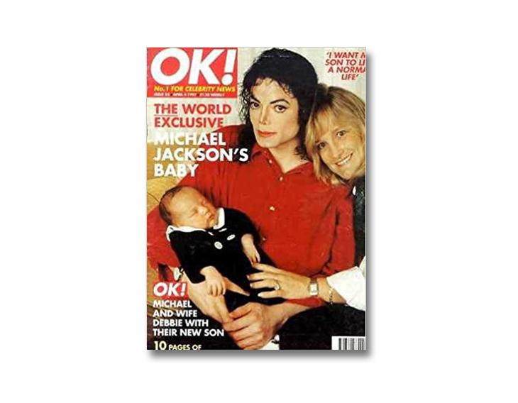 michael jackson through magazine covers Ok magazine