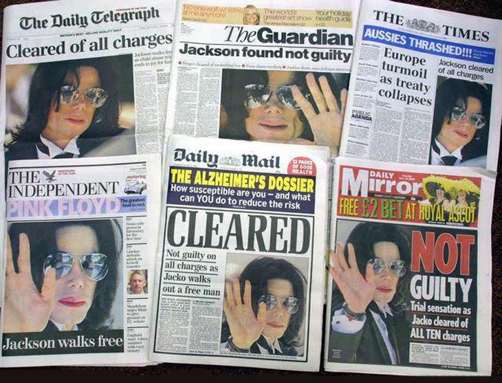 Michael Jackson through magazine covers tabloids