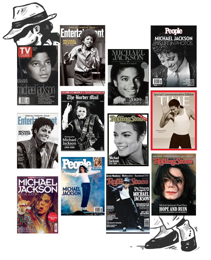 Michael Jackson tribute magazine covers