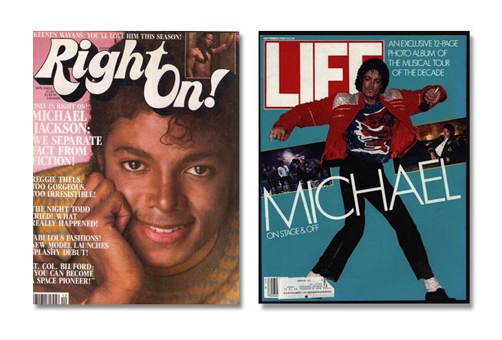 Michael Jackson through magazine covers Thriller