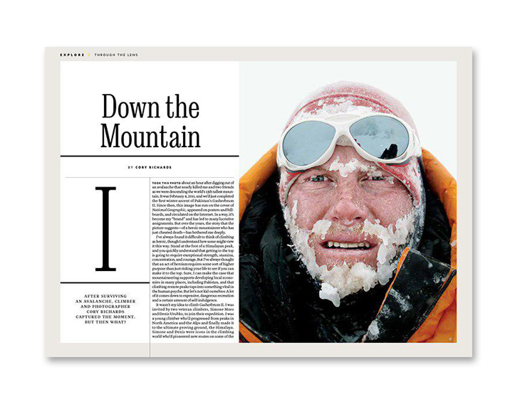 national geographic magazine layout